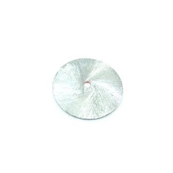 Kupferperle, Scheibe, flach, 25mm, Versilbert, 1 Stück