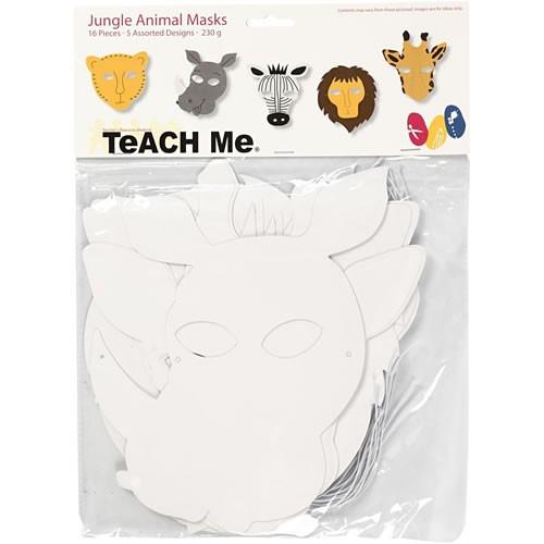 Teach ME®, Dschungeltier-Masken, 16 Stück