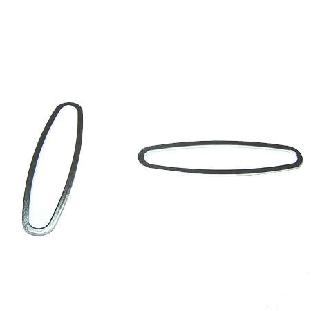 Metallellypse, geschlossen, Silberfarben, 1 Stück