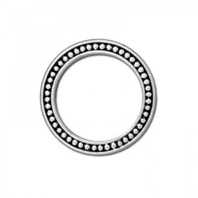 Casting, Ring, Punkte, 24mm, Antik versilbert, 1 Stück