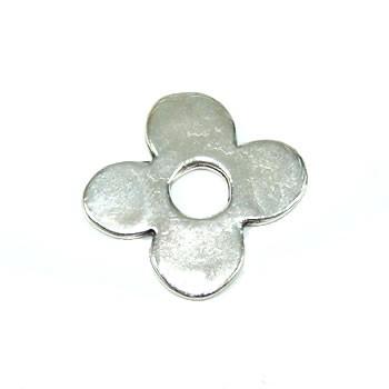 Wechselring, Scheibe, Blume, Metall, 25mm, 1 Stück