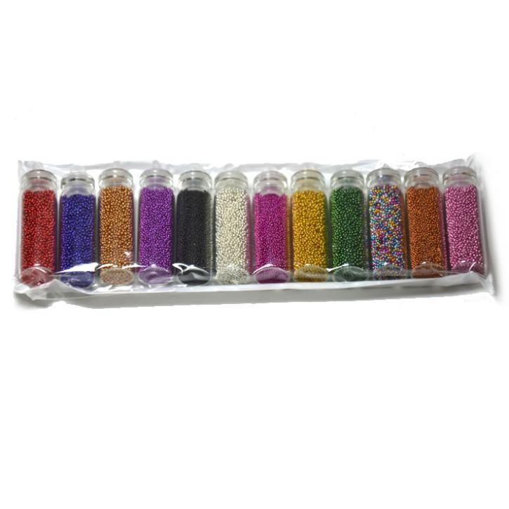 Microperlen-Set, 12 Farben á ca. 4,5gramm