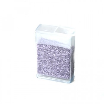 Microperlen, 0,5~0,8mm, Medium Purple, 10gramm FlipTopbox