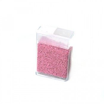 Microperlen, 0,5~0,8mm, Hot Pink, 10gramm FlipTopbox
