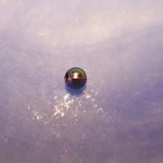 Plastikperle, Regenbogen, Schwarz, 4mm