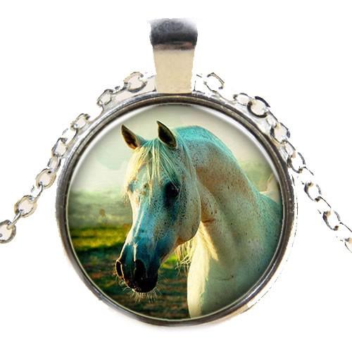 Kette, Pferd, Weiß, Silberfarben, 1 Stück