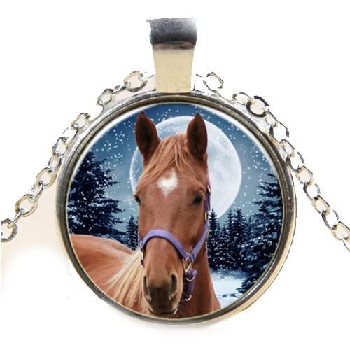 Kette, Pferd, Braun, Silberfarben, 1 Stück