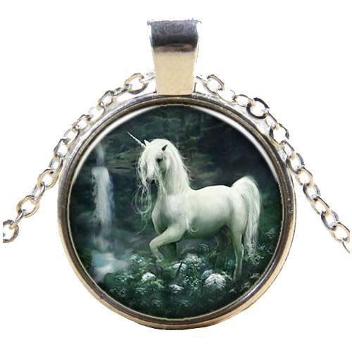 Kette, Pferd, Einhorn, Silberfarben, 1 Stück