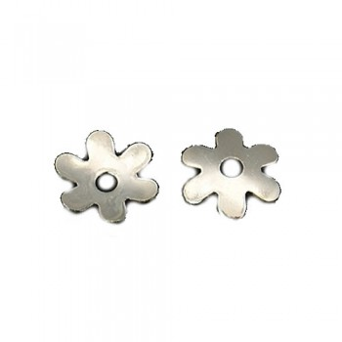 Perlkappe, Messing, Blume, 6,5mm, 50 Stück