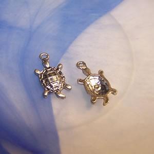 Metallanhänger, Schildkröte, 1 Stück