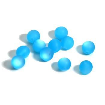 Plasticbead, Blau, Matt, 10mm, 10 Stück