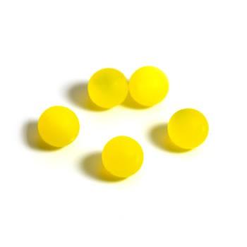 Plasticbead, Gelb, Matt, 10mm, 10 Stück