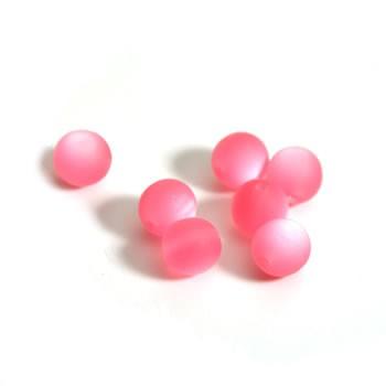 Plasticbead, Rosa, Matt, 10mm, 10 Stück