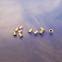Quetschröhrchen, 925 Silber, 2mm, 10 Stück