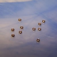 Quetschperle, 925 Silber, 2,5mm, 10 Stück