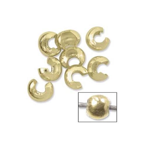 Quetschperlenkaschierung, Crimp Cover, 3,2mm, 10 Stück, silber-v