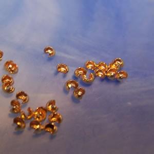 Quetschperlenkaschierung, Crimp Cover, 2,5mm, 10 Stück, Silber-v