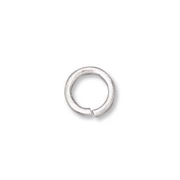 Biegering, geöffnet, Silberfarben, 7,5mm, 10 Stück
