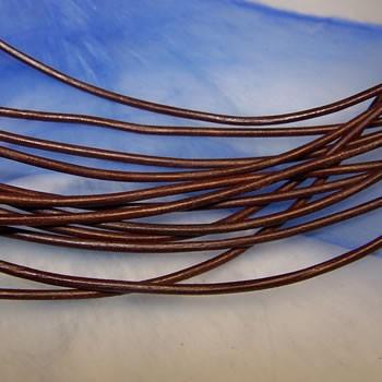 Ziegenlederband, Braun, 1,5mm, 1 Meter