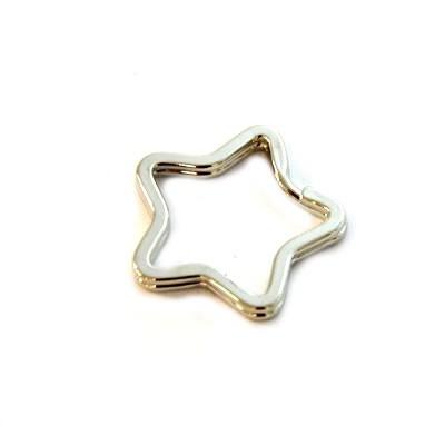 Schlüsselanhänger, Ring, Sternförmig, 34mm, 1 Stück