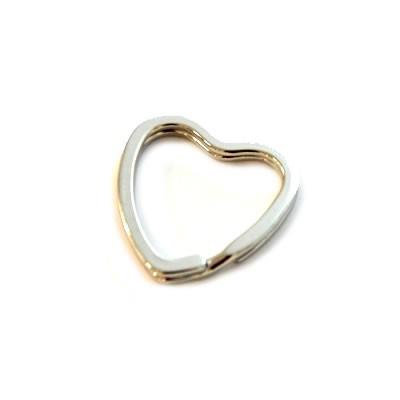 Schlüsselanhänger, Ring, Herz, 31mm, 1 Stück