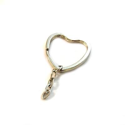 Schlüsselanhänger, Ring, Herz/Kette, 32mm, 1 Stück
