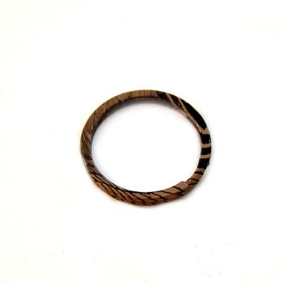 Schlüsselanhänger, Ring, Schwarz/Braun, 30mm, 1 Stück