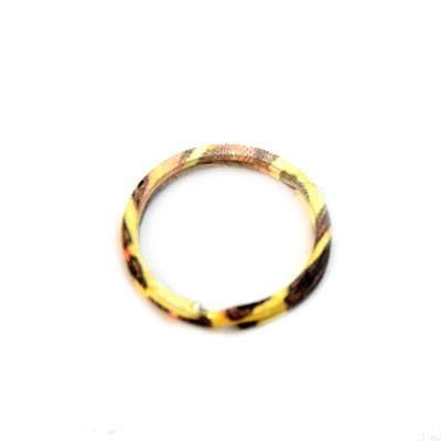 Schlüsselanhänger, Ring, Orange/Braun, 30mm, 1 Stück