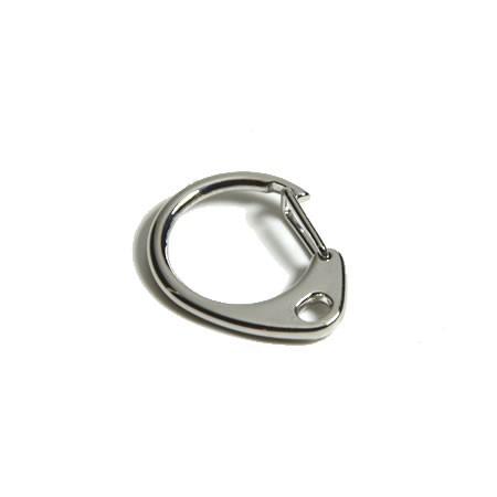 Eisen-Schlüsselanhänger, Verschluss, Platinfarben, 32mm, 1 Stück