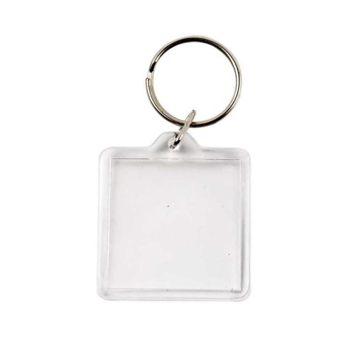 Schlüsselanhänger, 40x40 mm, Quadrat, Bild, 1 Stück