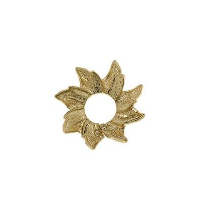 Scheibe, Blüte, Vergoldet