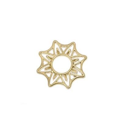 Scheibe, Sternförmig, Vergoldet