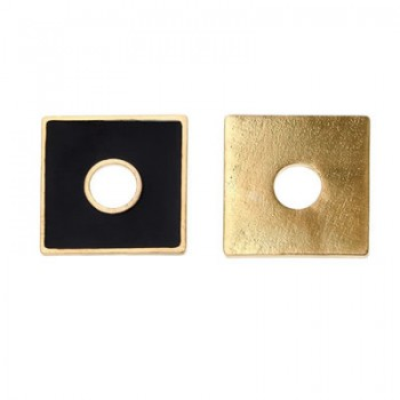 Scheibe, Eckig, Schwarz-gold, 2-seitig