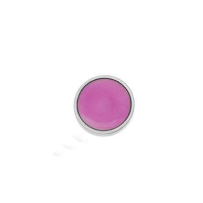 Aufsatz, Emaille, pink matt-transparent, 20mm