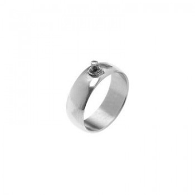 Edelstahl-Ring mit Gewinde, 8mm, Gr. 18,5