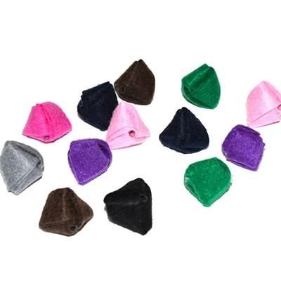 Mix Stoffperlen, Wickelperlen, Multifarbig, Groß, 5 Stück