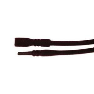 Silikoncollier, Samt, Burgund, 2mm, 45cm