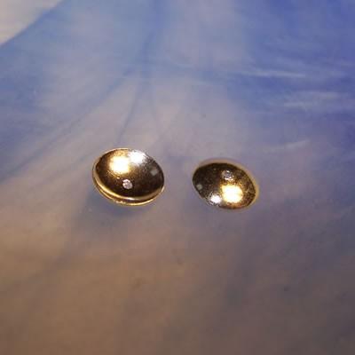 Perlkappe, Halblinse, glatt, O 8mm, 925 Silber