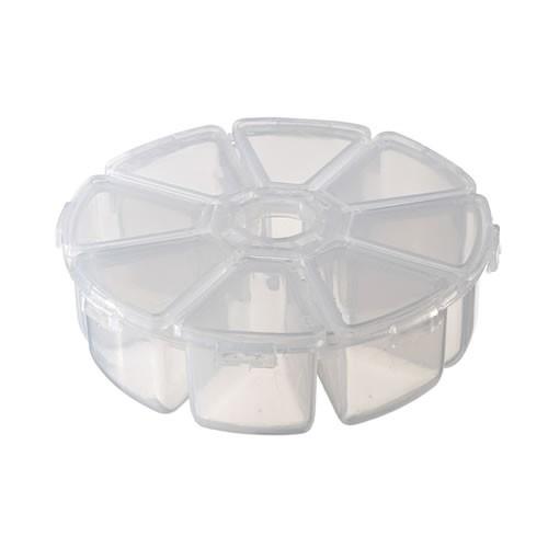 Kunststoff Aufbewahrungsbox, 8 Fächer, Transparent, 1 Stück