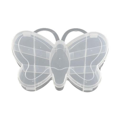 Sortierkasten, Schmetterling, 13 Fächer, Transparent, 1 Stück