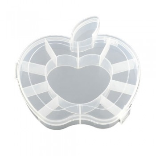 Sortierkasten, Apfel, 12 Fächer, Transparent, 1 Stück