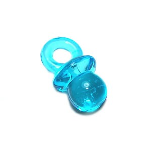 Kunststoffanhänger, Schnuller, Blau, 1 Stück
