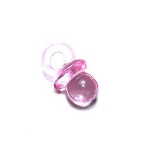 Kunststoffanhänger, Schnuller, Rosa, 1 Stück