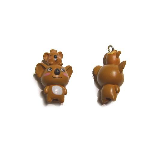 Kunststoffanhänger, Koala mit Baby, 31x20mm, 1 Stück