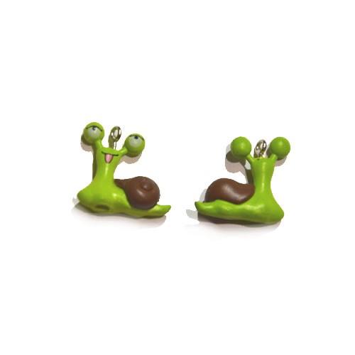 Kunststoffanhänger, Schnecke, Grün, 21x19mm, 1 Stück