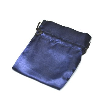 Satinbeutel, Blau, 1 Stück