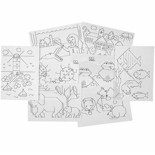 Stickkarton, 3x3 Löcher Pro cm, 1 Set