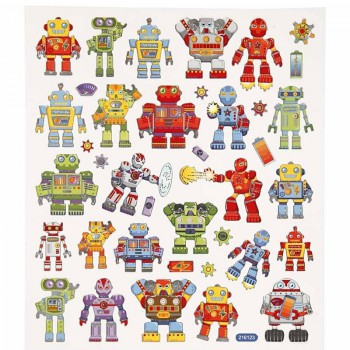 Fancy Sticker, 15x16,5 cm, Roboter, 1 Blatt