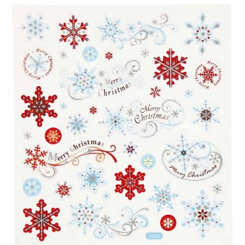 Fancy Sticker, 15x16,5 cm, Merry Christmas, 1 Blatt