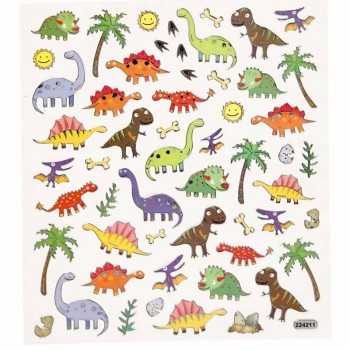 Fancy Sticker, 15x16,5 cm, Dinos, 1 Blatt